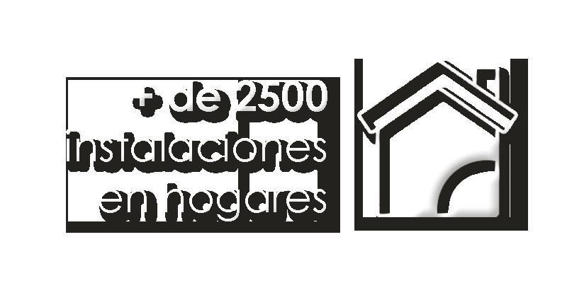 Más de 2500 hogares